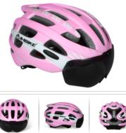 Magnetic sports helmet goggles integrated bicycle helmet outdoor mountain bike riding helmet custom