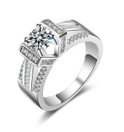 Diamond zircon geometric vintage jewelry ring ring female