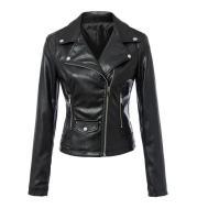 Leather coats Motorcycle Jacket Black Outerwear leather PU Jacket