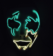 Halloween Skeleton Mask LED Glow Scary EL-Wire Mask