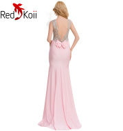 Plus Size Backless Evening Dress