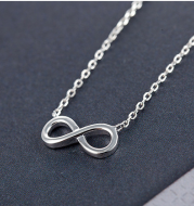 Infinity Jewelry Sets Necklace Earring Bracelet