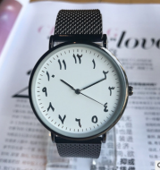 New fashion trend business casual men and women watch men's watch wild simple strange number couple watch women