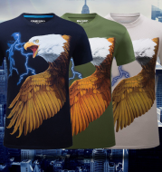 2020 new type of personality pattern T - shirt creative 3D stereoscopic short sleeved white men short sleeved 3D T-shirt clothes