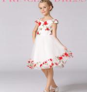 Flower girl flower fairy dress children's wedding dress princess dress mesh word shoulder set lace girl dress