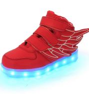 Children's shoes led light shoes children's wings light shoes usb charging colorful luminous shoes casual light shoes