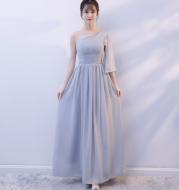 Bridesmaid dress long section 2021 spring and autumn new wedding bridesmaid sisters skirt bridesmaid dress dress female