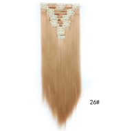 Straight hair wig piece clip hairless hair extension piece