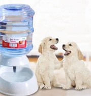 Cats Dogs Automatic Pet Feeder Drinking Water Fountains Large Capacity Plastic Pets Dog Food Bowl Water Dispenser
