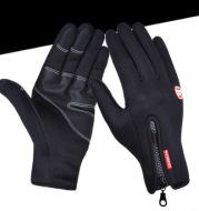 Outdoor Waterproof Gloves Touch Screen Windproof Riding Zipper Sports Winter Warm Fleece Mountaineering Gloves