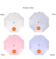 Manual Triple-Folding Pure Color Black Rubber Umbrella Printed with Custom Design