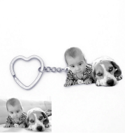 Custom Engrave Keyring Engraved Pet Photo Keychain DIY Jewelry For Couples Men Women Family Gift Key Chain Dropshipping