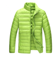 Autumn and winter new men's down jacket large size casual short paragraph collar thin men's down jacket