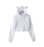Personalized Belly-baring Cat Ear Hoody Coat