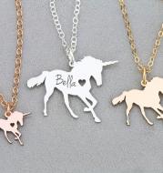 Unicorn Horse unicornio Necklace Magical Licorne