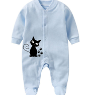 Pure Cotton Baby Footie Printed with Custom Design