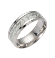 201 Stainless Steel Luminous Ring Custom with Name & Logo