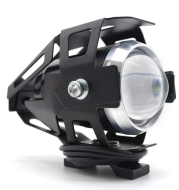 Waterproof LED Motorcycle Headlights Auxiliary Lamp Spotlight High Power U5 12V