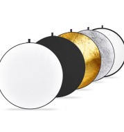 Gold and silver white black soft light 5 color one folding reflector photographic equipment portable baffle studio fill light soft light