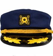 Korean version of retro men and women Navy blue navy cap