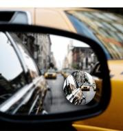 Car borderless small round mirror 360 degree reversing blind spot mirror convex mirror rear view rotating mirror glass small round mirror