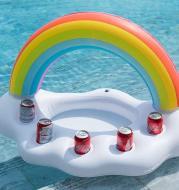 Gay Pride Rainbow Inflatable Pool Float Cooler