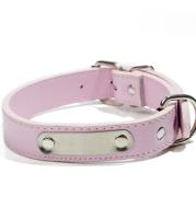 Custom dog custom dog PU collar Teddy cat necklace pet tag cat brand laser lettering identity card customization