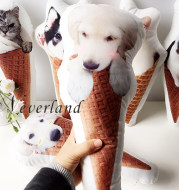 Customize Pet Pillow Ice Cream Cone Pillow