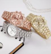 Women Crystal Quartz Analog Wrist Watch Fashion Stainless Steel Geneva Luxury Reloj Hombre Montre Femme Sport Watches