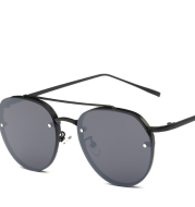 2021 Korean version of the new sunglasses female trend ocean film sunglasses personality reflective round glasses male