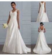 Autumn new white temperament lace dress European wedding bridesmaid backless low collar large size dress long skirt