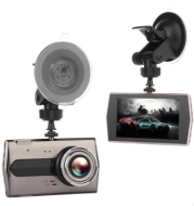 Zinc alloy driving recorder HD night vision Dual-lens double-record 4 inch 1080P reversing image