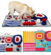 Pet Sniffing Pad Training Blanket Feeding Mat Dog Foraging Skills Toys Pet Activity Training Blanket