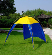 Camping Tent Sunshade Waterproof Tent Outdoor Canopy Beach Shelter Sunscreen Tent For Camping Hiking Fishing Bearing 5-8 People