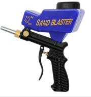 Portable gravity sandblasting gun pneumatic sandblasting set small rust sandblasting device sand blasting machine