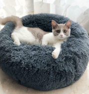 Dog Beds For Small Dogs Round Plush Cat Litter Kennel Pet Nest Mat Puppy Beds