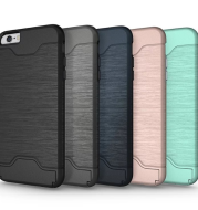 Brushed card case tpu two-in-one protective cover