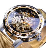 WINNER hollow diamond men's semi-automatic mechanical watch