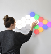 British Creative Honeycomb Modular Assembly Helios Touch Wall Lamp