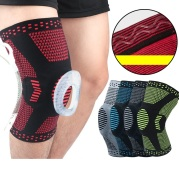 Spring bone silicone knee pads