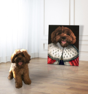 Personalized Pet Canvas Portrait Image