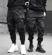 Male Functional Tactical Hong Kong Tide Youth Trousers