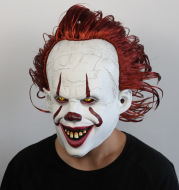 Joker Cosplay Mask Pennywise Costumes Prop Stephen King's It Chapter Two Pennywise Horror Clown Hallowee