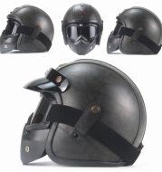 Personalized vintage Harley helmet