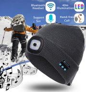Bluetooth LED Hat Wireless Smart Cap Headset Headphone