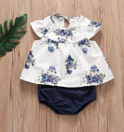 Pleated Skirt + Floral Shorts Set