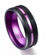 Purple party ring Groove ring