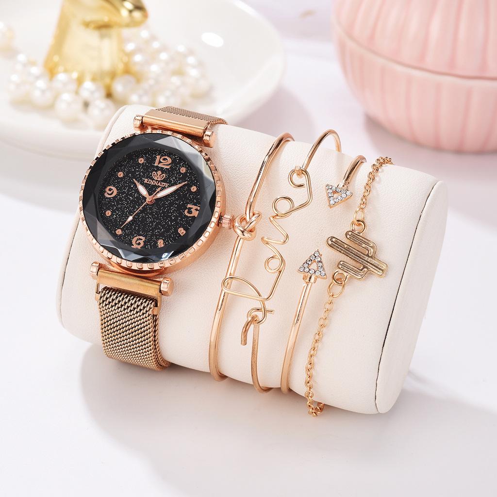 Reloj Para Mujer Hebilla Magnética De Cielo Estrellado ⌚😍- Dileblue