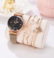 Women Watches Starry Sky Magnet Buckle Fashion Bracelet Wristwatch Roman Numeral Simple Clock Gift