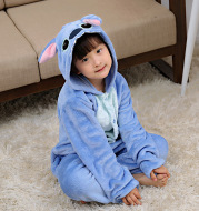 Flannel Siamese pajamas children's clothing
